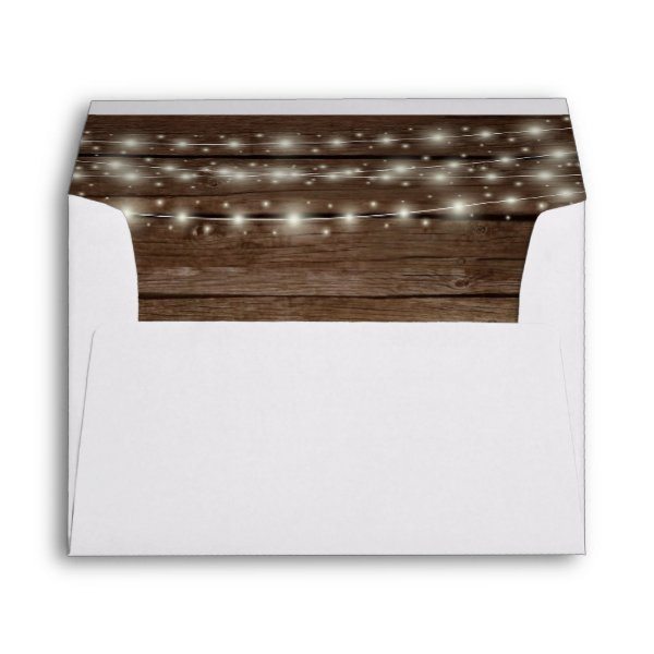 Rustic Barn Wood and Lights Envelope
