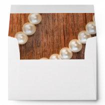 Rustic Barn Wood and Pearls Envelope