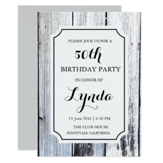 Rustic Barn Wood Birthday Invitation
