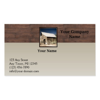 Rustic Barn Wood Borders on Sun Faded Background Business Card