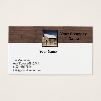 Rustic Barn Wood Borders on White Background Business Card