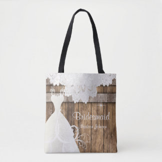Rustic Barn Wood Bridal Shower Design Tote Bag