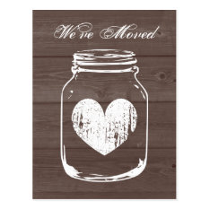 Rustic Barn Wood Change Of Address Moving Postcard at Zazzle