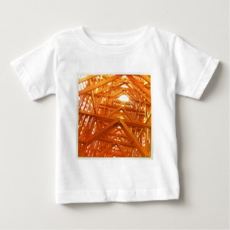 Rustic Barn Wood Construction Baby T-Shirt