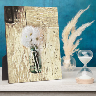 rustic barn wood country daisy wedding plaque