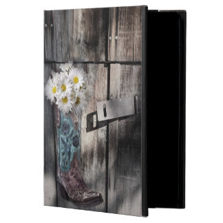 rustic barn wood cowboy boots western country iPad air cover