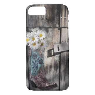 rustic barn wood cowboy boots western country iPhone 7 case
