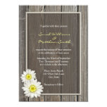 Rustic Barn Wood Daisy Wedding Invitations