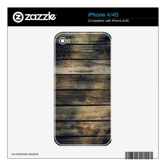 Rustic Barn Wood Decals For iPhone 4