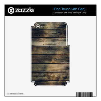 Rustic Barn Wood Decals For iPod Touch 4G