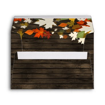 Rustic Barn Wood Fall Invitation envelopes