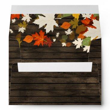 Rustic Barn Wood Fall Invitation envelopes