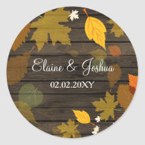 Rustic Barn Wood Fall Wedding stickers