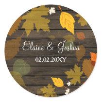 Rustic Barn Wood Fall Wedding stickers