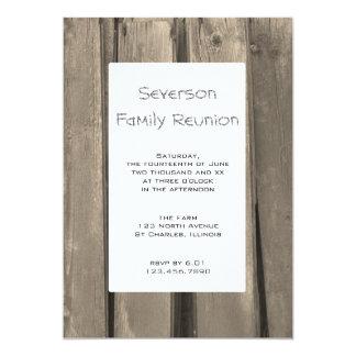 Rustic Barn Wood Family Reunion Invitation