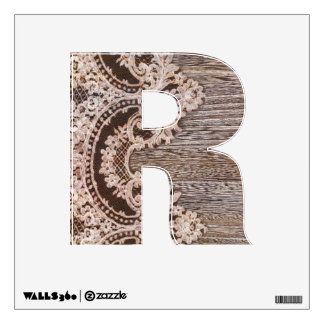 Rustic barn wood lace western country wedding wall graphic