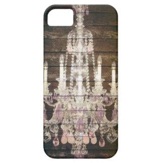 Rustic Barn Wood Paris vintage chandelier iPhone SE/5/5s Case