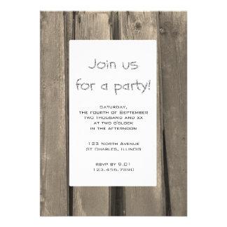 Rustic Barn Wood Party Invitation