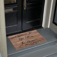 Rustic Barn Wood Photo Large Welcome Mat