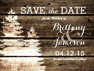 winter save the date cards zazzle