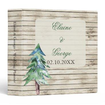 Rustic Barn Wood Pine Wedding Binder