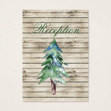 Rustic Barn Wood Pine Wedding Business Card