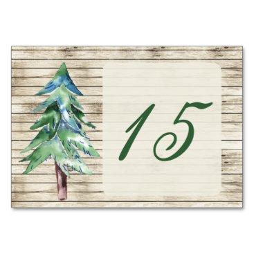 Rustic Barn Wood Pine Wedding Card