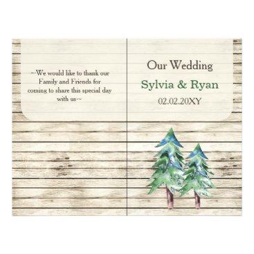 Rustic Barn Wood Pine Wedding Flyer