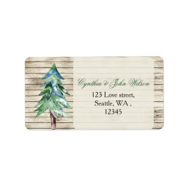 Rustic Barn Wood Pine Wedding Label