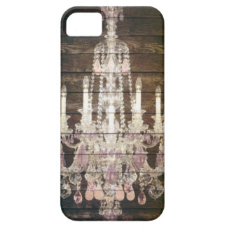 Rustic Barn Wood purple french chandelier iPhone SE/5/5s Case