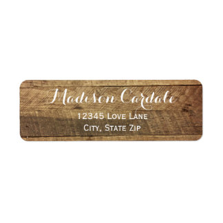 Rustic Barn Wood Return Address Labels