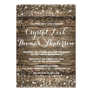 Rustic Winter Wedding Invitations Amp Announcements Zazzle