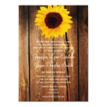 Rustic Barn Wood Sunflower Wedding Invitations
