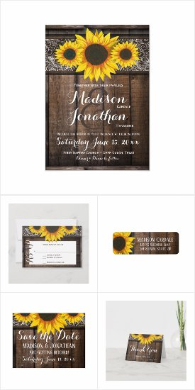 Rustic Barn Wood Sunflowers and Lace Wedding