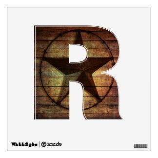 rustic barn wood texas star western wedding favor room graphics
