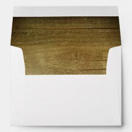 Rustic Barn Wood Texture Wedding Envelope