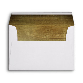 Rustic Barn Wood Texture Wedding Envelope