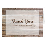 Rustic Barn Wood Thank You Stationery Note Card