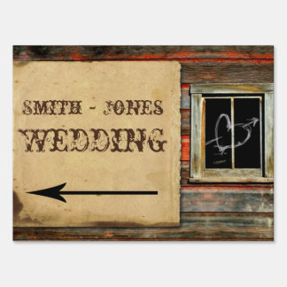 Rustic Barn Wood Wedding Direction Sign