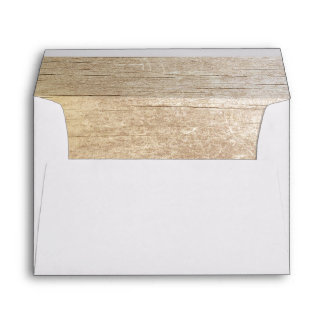rustic barn wood wedding envelope