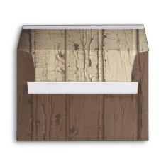 Rustic Barn Wood Wedding Envelopes For Invites at Zazzle