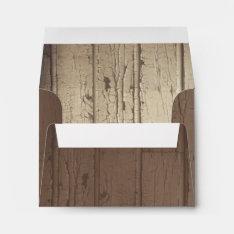 Rustic Barn Wood Wedding Envelopes For Rsvp at Zazzle