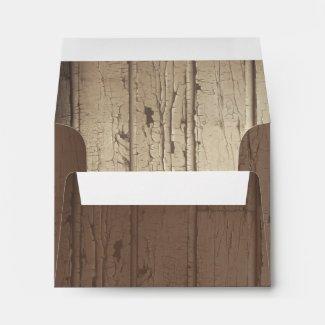 rustic barn wood wedding envelopes for RSVP