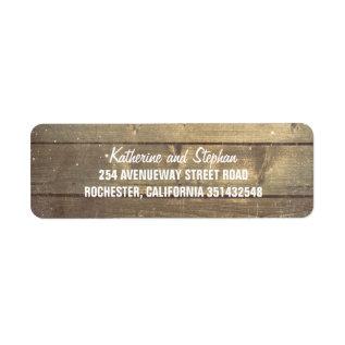 Rustic Barn Wood Wedding Label at Zazzle