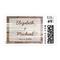 Rustic Barn Wood Wedding Postage
