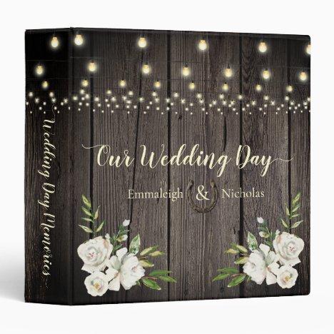 Rustic Barn Wood Wedding Scrapbook Album 3 Ring Binder
