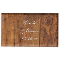 Rustic Barn Wood Wedding Table Card Holder