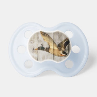 Rustic Barn wood Western Country flying Wild Duck Pacifier