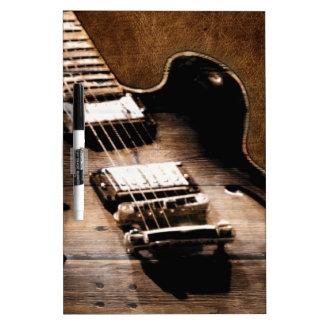 Rustic Barn Wood Western Country Music Guitar Dry Erase Board