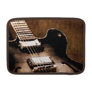 Rustic Barn Wood Western Country Music Guitar MacBook Sleeve